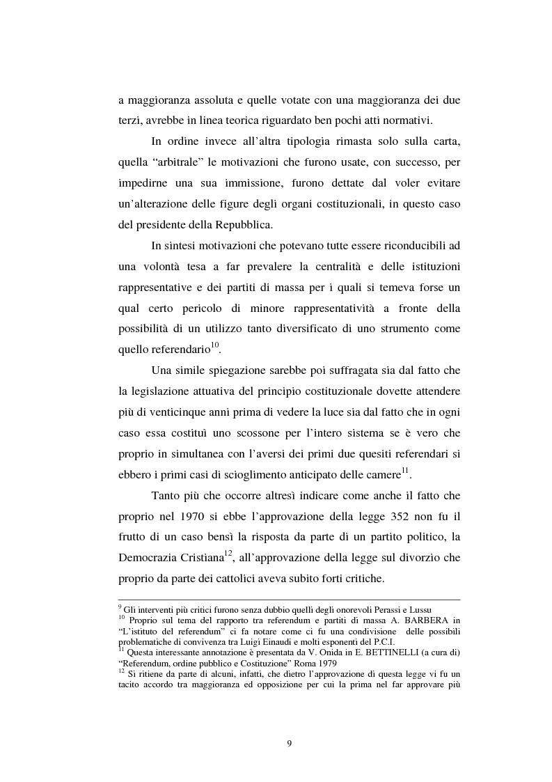 Anteprima della tesi: Il referendum nell'ordinamento regionale, Pagina 7