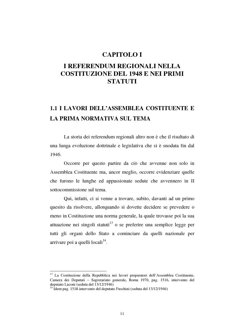 Anteprima della tesi: Il referendum nell'ordinamento regionale, Pagina 9