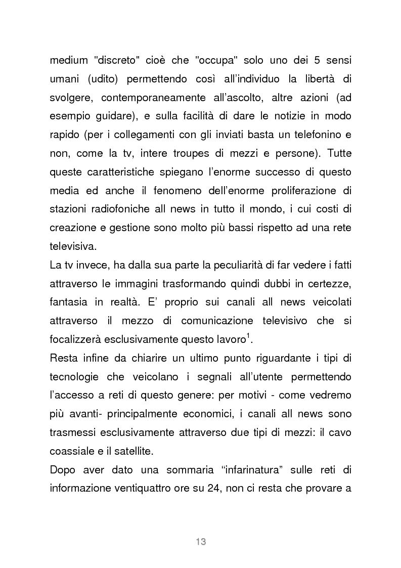 Anteprima della tesi: Le reti televisive all news - un nuovo modello per l'informazione italiana. Il caso Sky TG24, Pagina 10