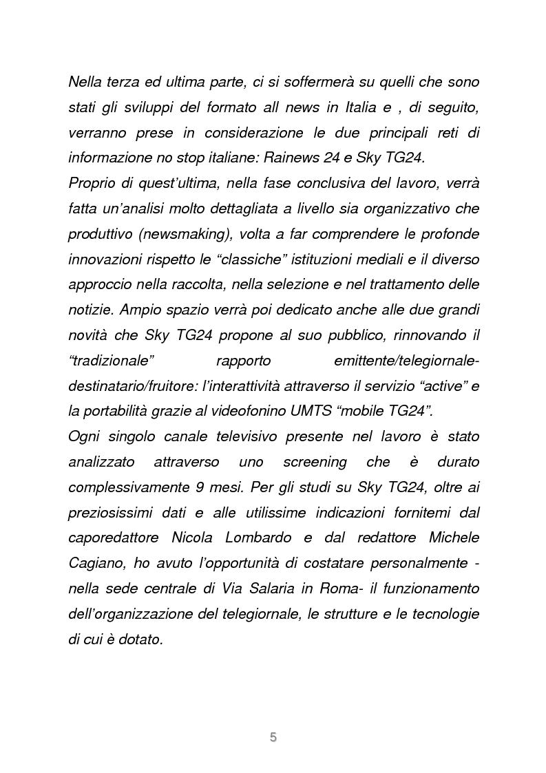Anteprima della tesi: Le reti televisive all news - un nuovo modello per l'informazione italiana. Il caso Sky TG24, Pagina 2