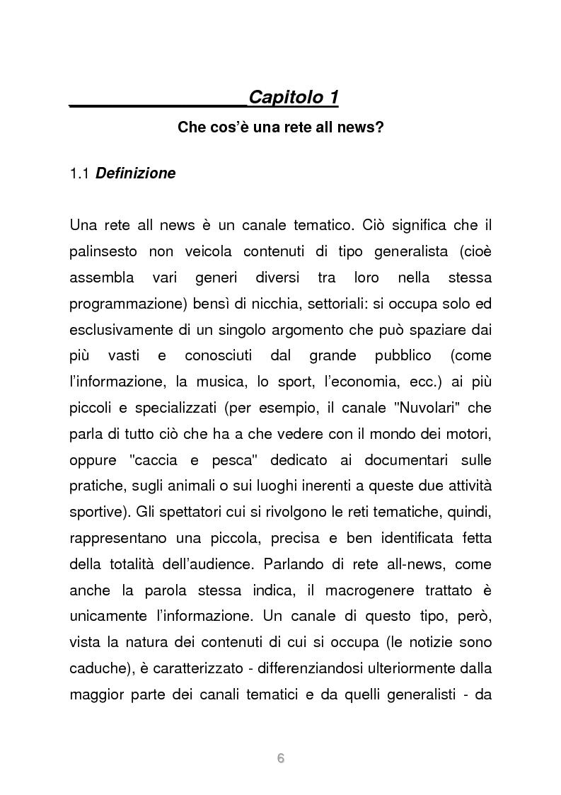 Anteprima della tesi: Le reti televisive all news - un nuovo modello per l'informazione italiana. Il caso Sky TG24, Pagina 3