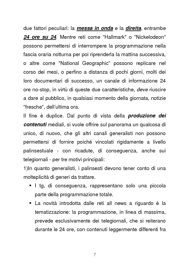 Anteprima della tesi: Le reti televisive all news - un nuovo modello per l'informazione italiana. Il caso Sky TG24, Pagina 4