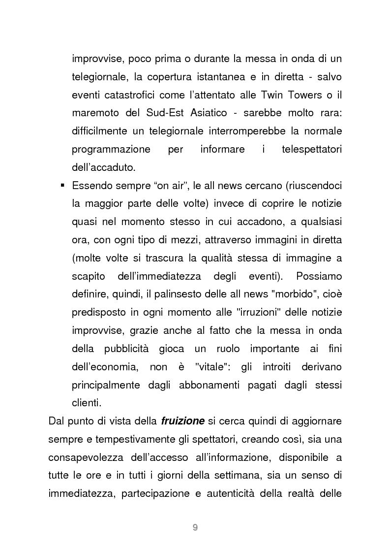 Anteprima della tesi: Le reti televisive all news - un nuovo modello per l'informazione italiana. Il caso Sky TG24, Pagina 6