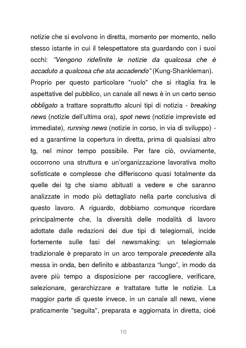 Anteprima della tesi: Le reti televisive all news - un nuovo modello per l'informazione italiana. Il caso Sky TG24, Pagina 7