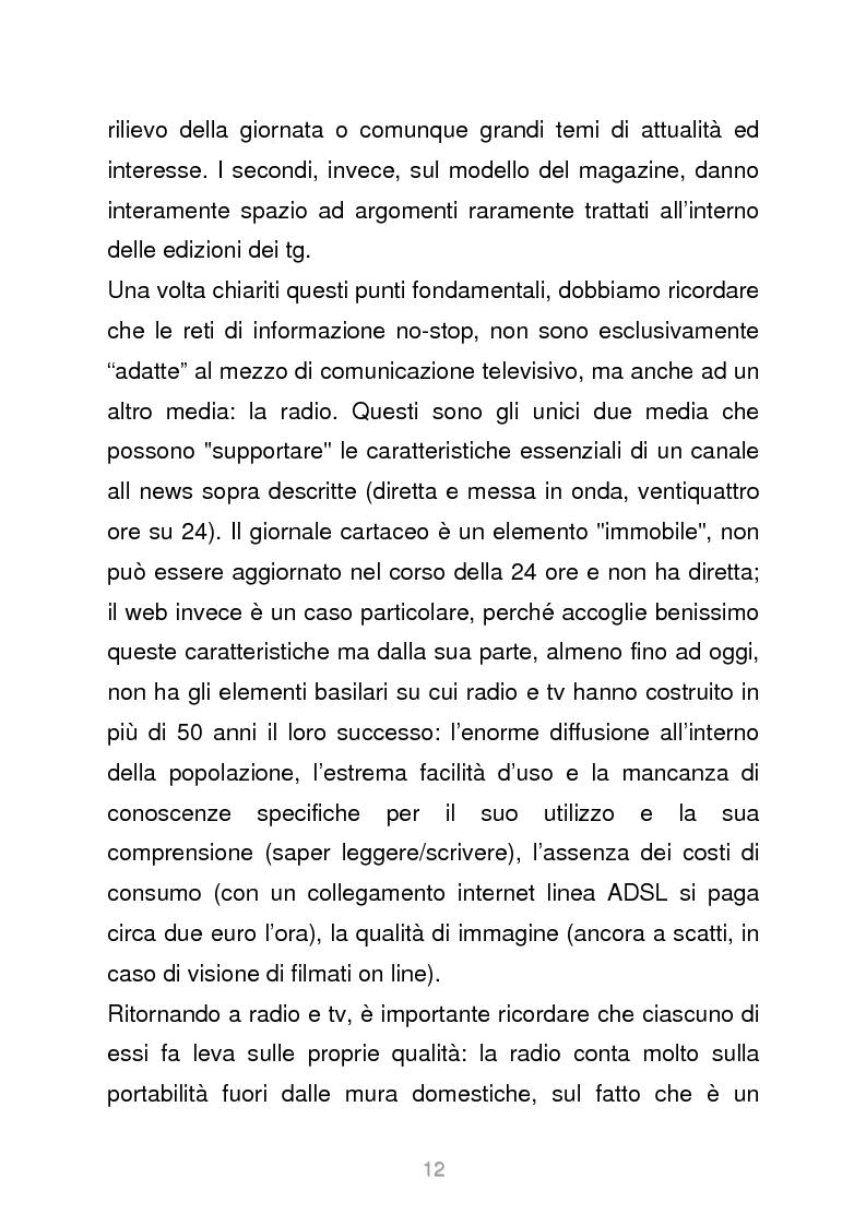 Anteprima della tesi: Le reti televisive all news - un nuovo modello per l'informazione italiana. Il caso Sky TG24, Pagina 9