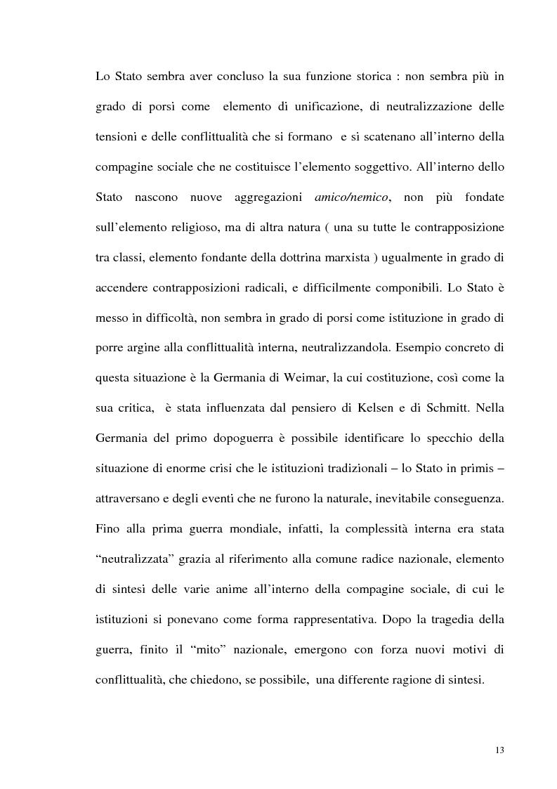 Anteprima della tesi: Schmitt e Kelsen: un problema della letteratura filosofico giuridica, Pagina 12