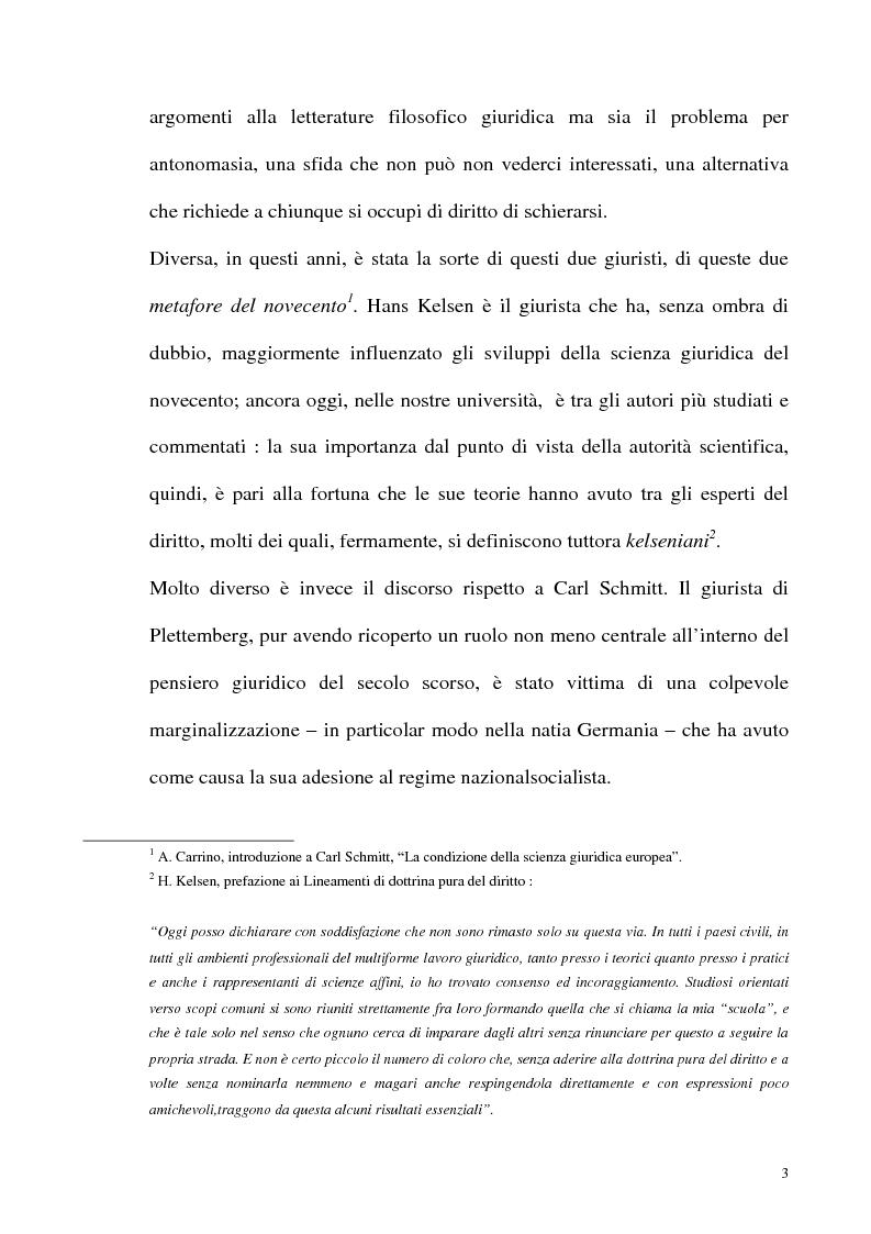 Anteprima della tesi: Schmitt e Kelsen: un problema della letteratura filosofico giuridica, Pagina 2