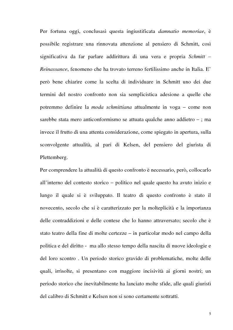 Anteprima della tesi: Schmitt e Kelsen: un problema della letteratura filosofico giuridica, Pagina 4