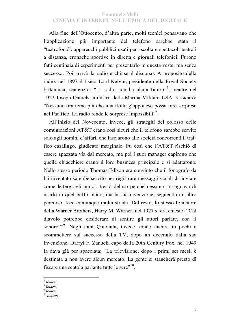 Anteprima della tesi: Cinema e Internet nell'epoca del digitale, Pagina 3