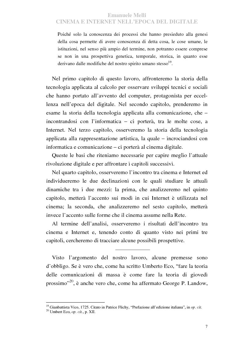 Anteprima della tesi: Cinema e Internet nell'epoca del digitale, Pagina 7