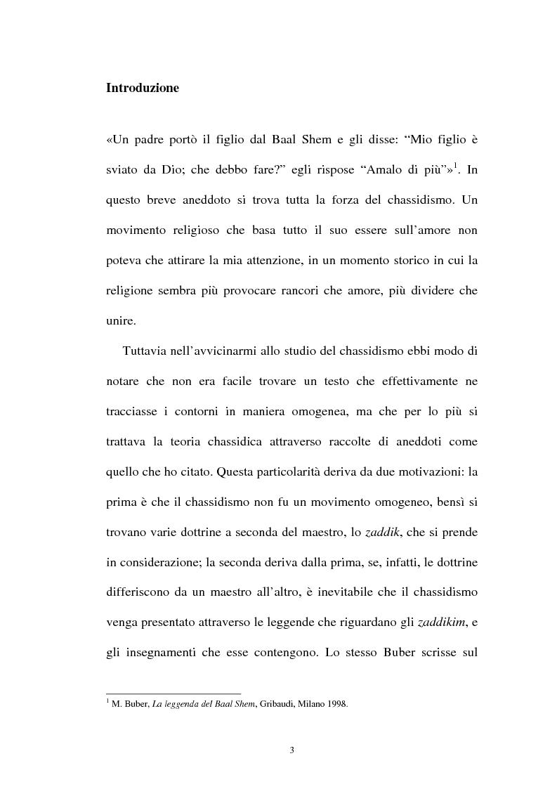Anteprima della tesi: Prospettive sul chassidismo: le interpretazioni di Martin Buber e di Gershom Scholem, Pagina 1