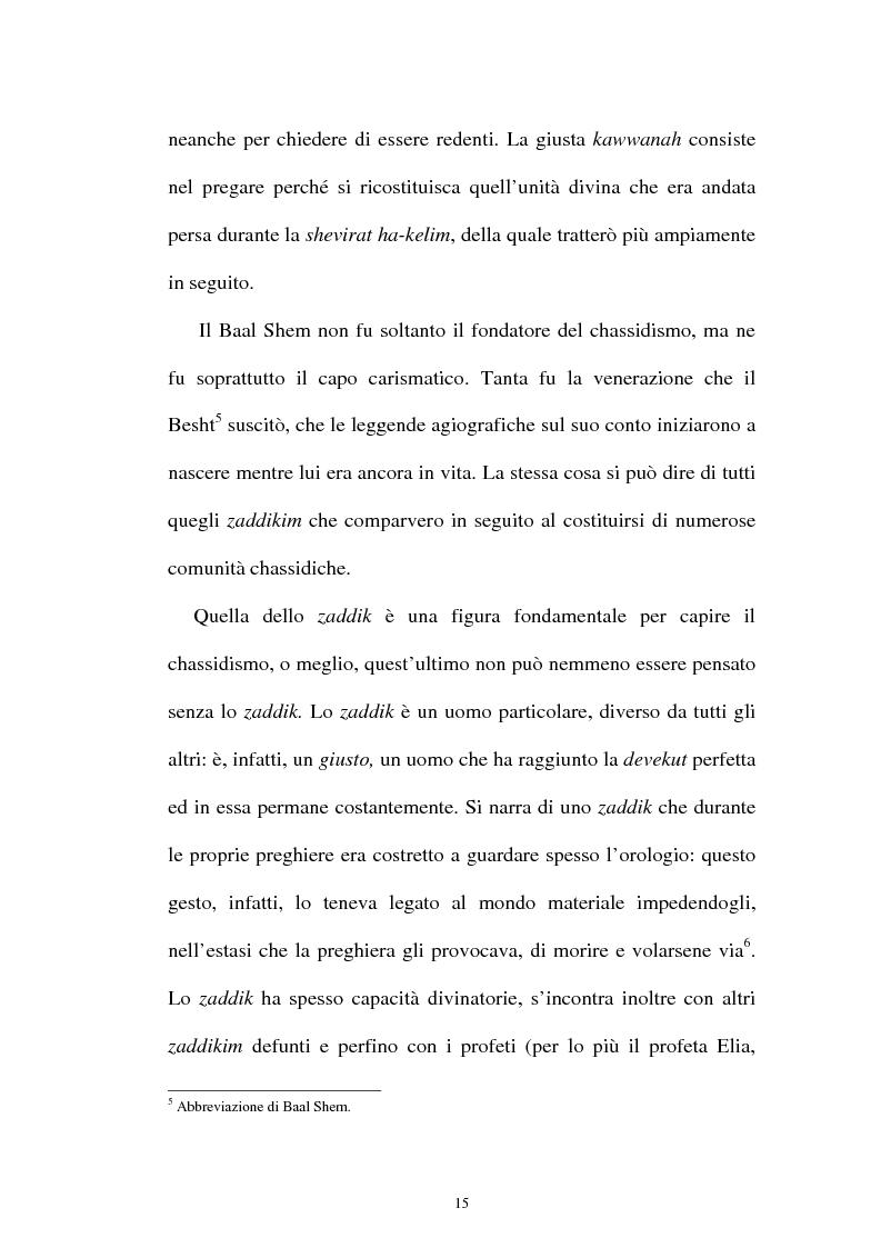 Anteprima della tesi: Prospettive sul chassidismo: le interpretazioni di Martin Buber e di Gershom Scholem, Pagina 13