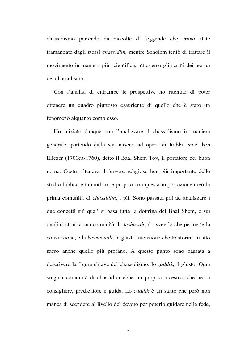 Anteprima della tesi: Prospettive sul chassidismo: le interpretazioni di Martin Buber e di Gershom Scholem, Pagina 2