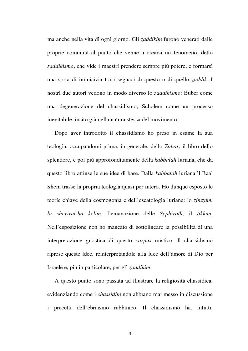 Anteprima della tesi: Prospettive sul chassidismo: le interpretazioni di Martin Buber e di Gershom Scholem, Pagina 3