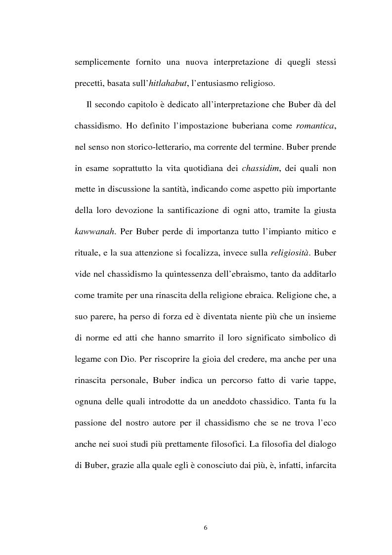 Anteprima della tesi: Prospettive sul chassidismo: le interpretazioni di Martin Buber e di Gershom Scholem, Pagina 4