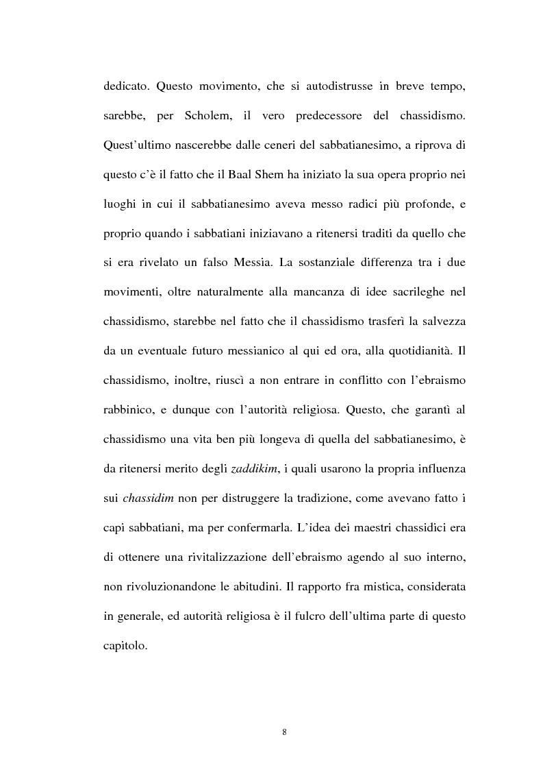 Anteprima della tesi: Prospettive sul chassidismo: le interpretazioni di Martin Buber e di Gershom Scholem, Pagina 6