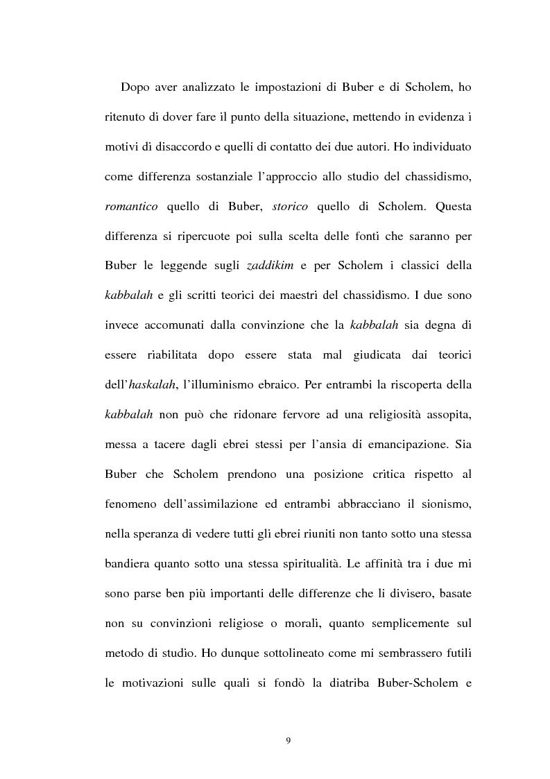 Anteprima della tesi: Prospettive sul chassidismo: le interpretazioni di Martin Buber e di Gershom Scholem, Pagina 7