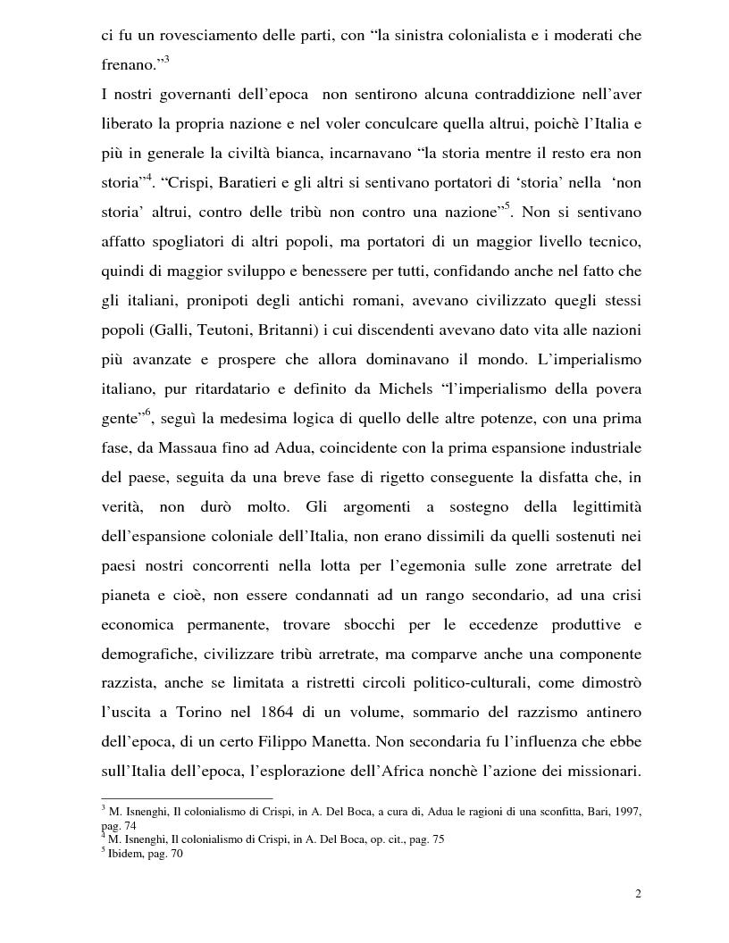 Anteprima della tesi: La Battaglia di Adua ed i riflessi internazionali, Pagina 4