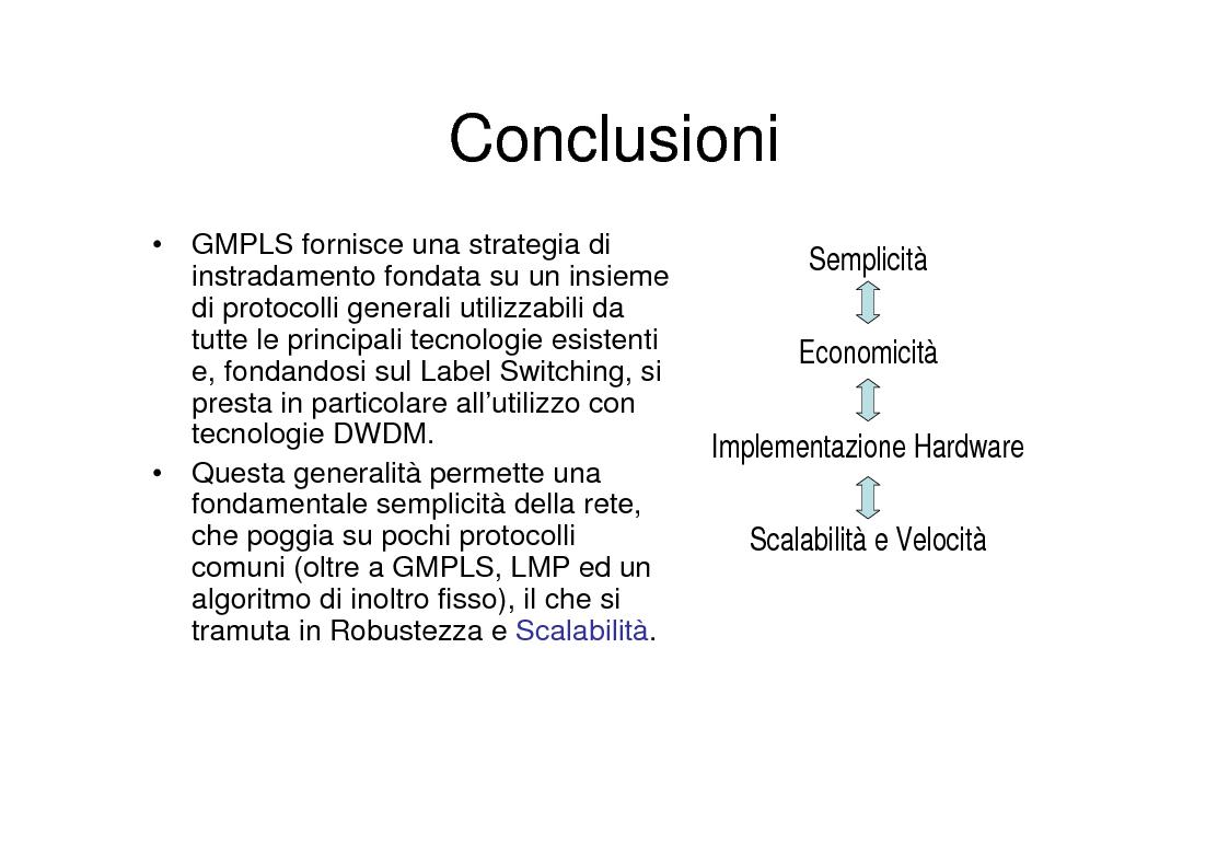 Anteprima della tesi: Utilizzo delle tecniche GMPLS per il trasporto di IP su DWDM, Pagina 10
