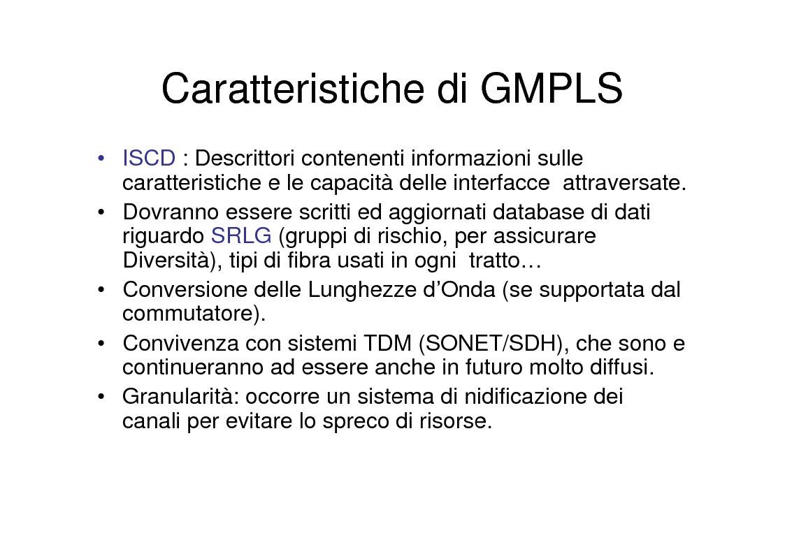 Anteprima della tesi: Utilizzo delle tecniche GMPLS per il trasporto di IP su DWDM, Pagina 6