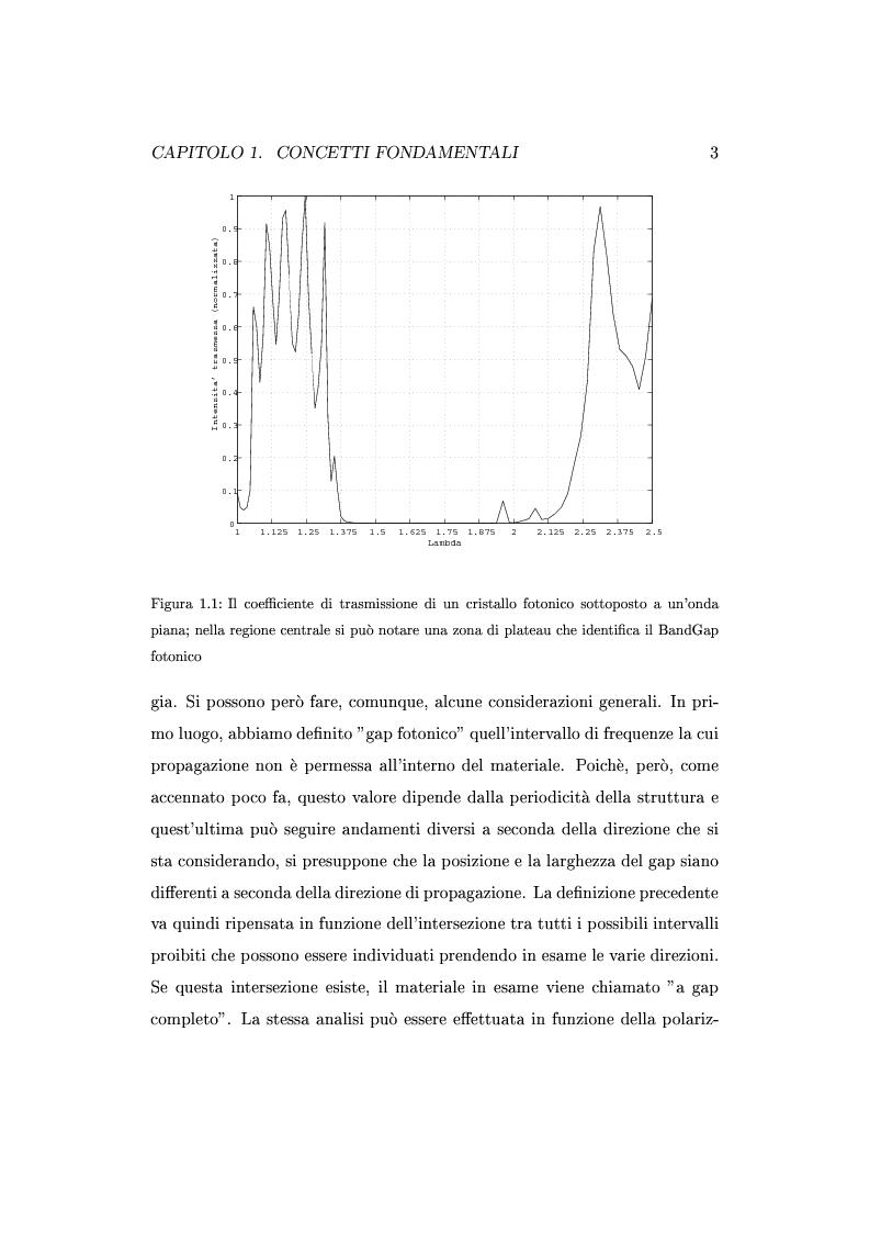 Anteprima della tesi: Approccio circuitale al dimensionamento di cavità Fabry-Perot in cristalli fotonici, Pagina 6