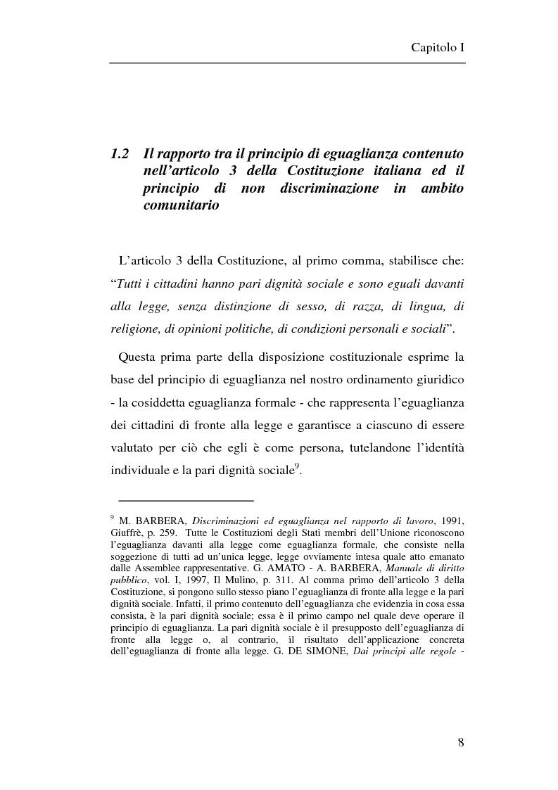 Anteprima della tesi: Il principio di non discriminazione nel diritto tributario secondo la giurisprudenza della Corte di giustizia C.E.E., Pagina 11