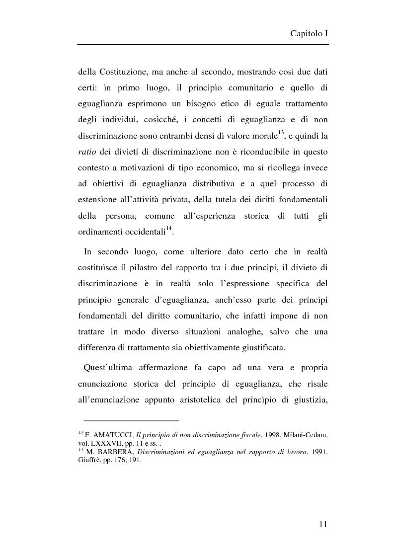 Anteprima della tesi: Il principio di non discriminazione nel diritto tributario secondo la giurisprudenza della Corte di giustizia C.E.E., Pagina 14