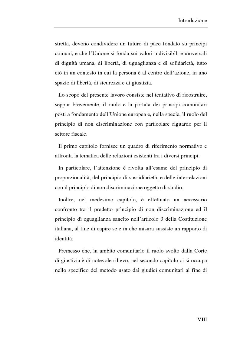 Anteprima della tesi: Il principio di non discriminazione nel diritto tributario secondo la giurisprudenza della Corte di giustizia C.E.E., Pagina 2
