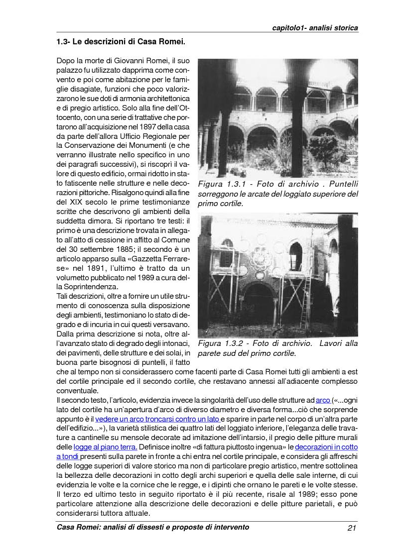 Anteprima della tesi: Casa Romei: analisi di dissesti e proposte di intervento, Pagina 10