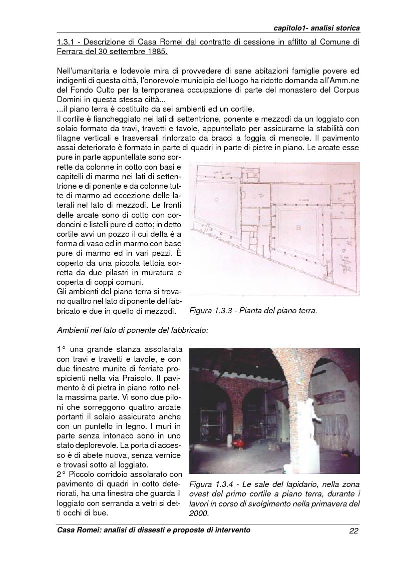 Anteprima della tesi: Casa Romei: analisi di dissesti e proposte di intervento, Pagina 11