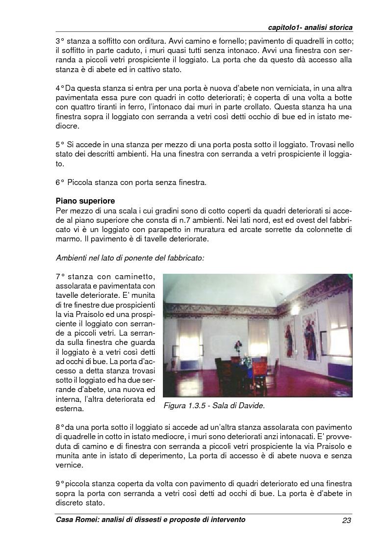 Anteprima della tesi: Casa Romei: analisi di dissesti e proposte di intervento, Pagina 12