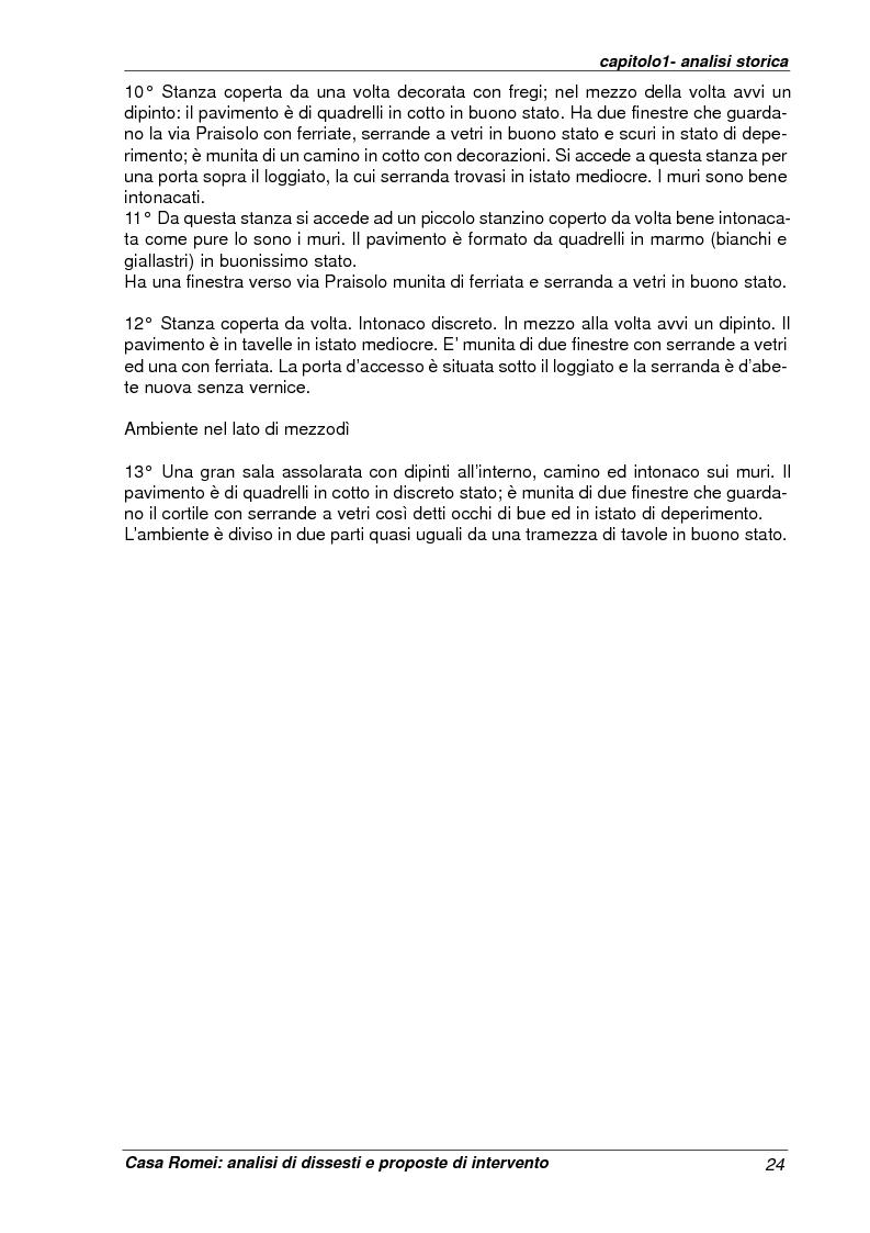 Anteprima della tesi: Casa Romei: analisi di dissesti e proposte di intervento, Pagina 13