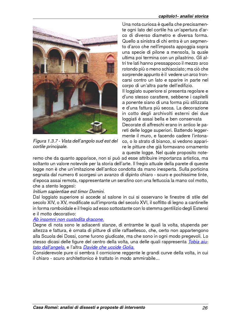 Anteprima della tesi: Casa Romei: analisi di dissesti e proposte di intervento, Pagina 15