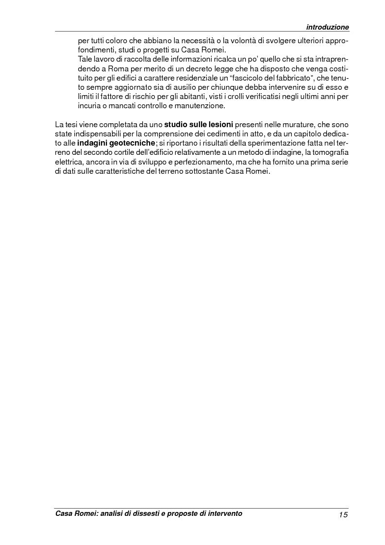 Anteprima della tesi: Casa Romei: analisi di dissesti e proposte di intervento, Pagina 4