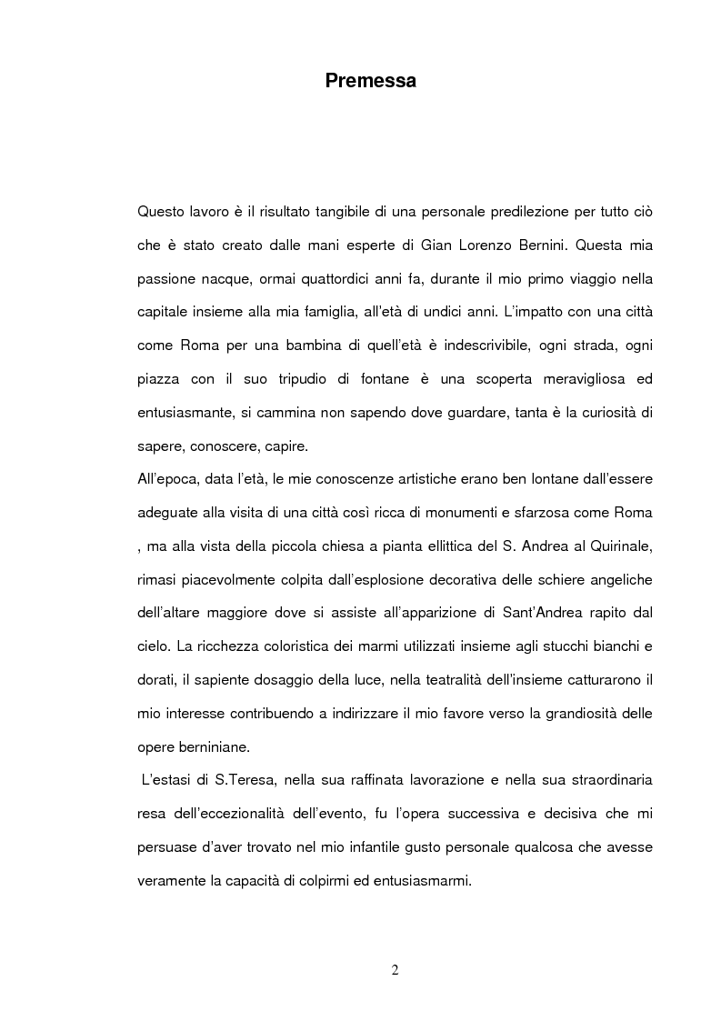 Anteprima della tesi: Angeli e Arcangeli di Gian Lorenzo Bernini, Pagina 1