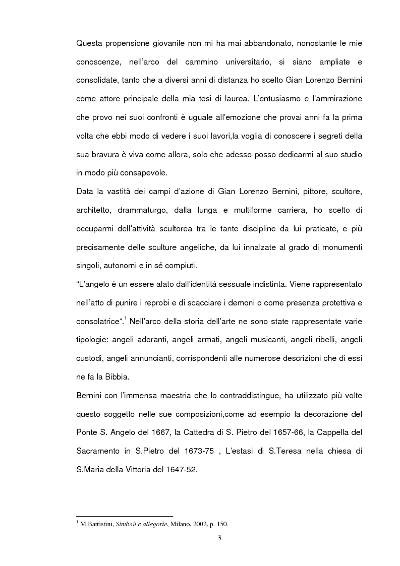 Anteprima della tesi: Angeli e Arcangeli di Gian Lorenzo Bernini, Pagina 2