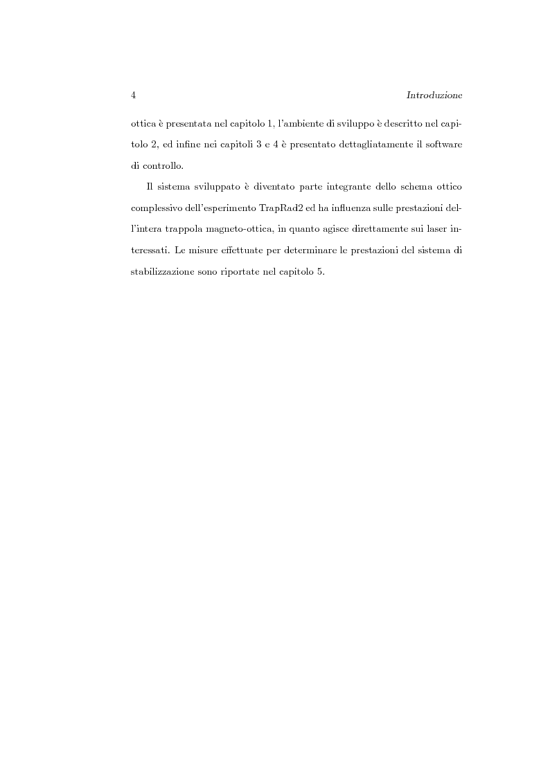 Anteprima della tesi: Sviluppo del software di acquisizione dati e controllo di un sistema di stabilizzazione in frequenza di laser in ambiente LabView, Pagina 2