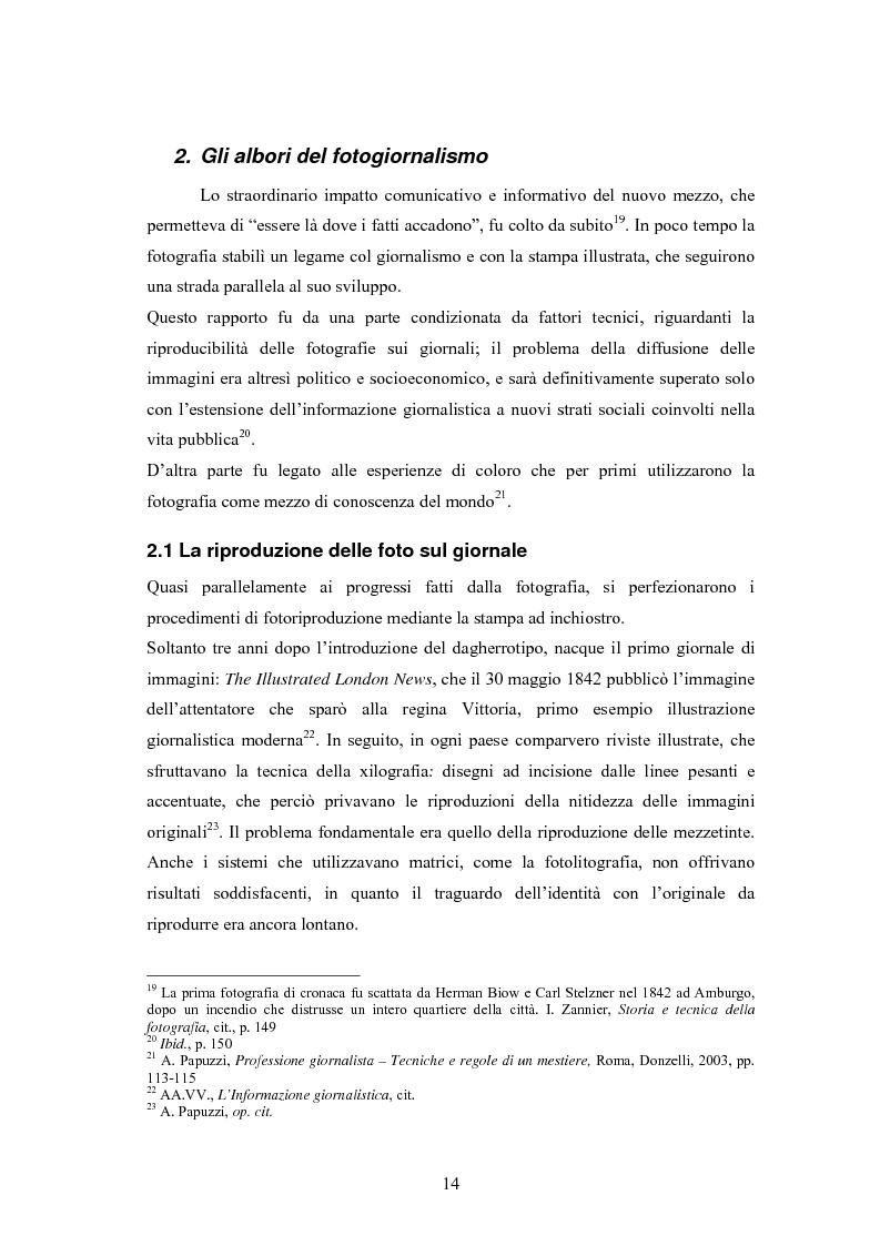 Anteprima della tesi: La foto come notizia - Storia, successo, crisi e limiti del fotogiornalismo, Pagina 10