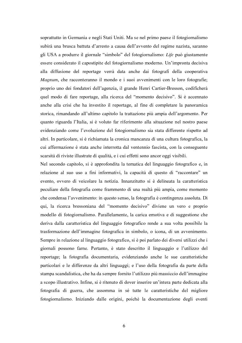 Anteprima della tesi: La foto come notizia - Storia, successo, crisi e limiti del fotogiornalismo, Pagina 2