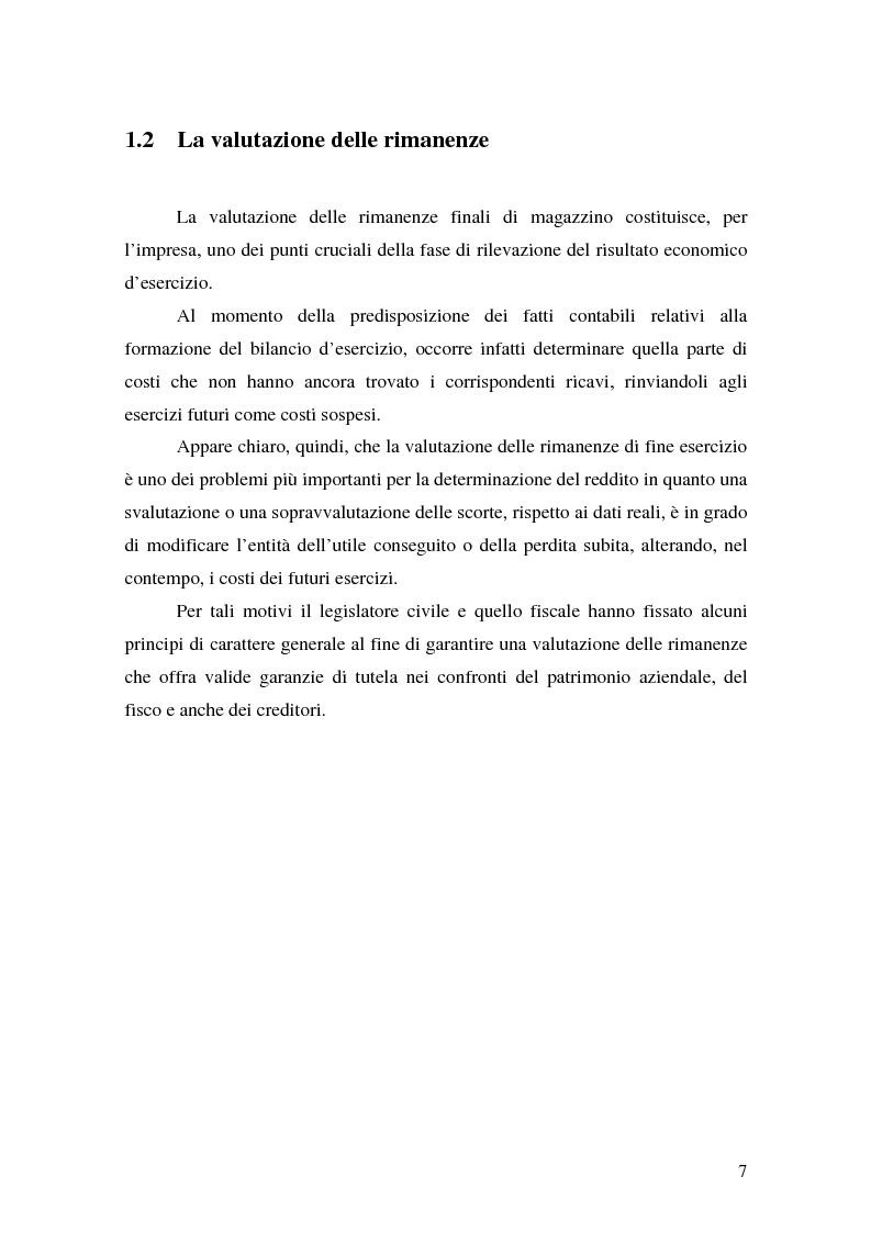 Anteprima della tesi: La valutazione delle rimanenze: principi contabili nazionali e internazionali, Pagina 10