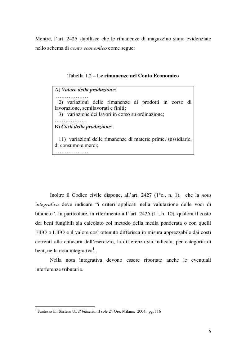 Anteprima della tesi: La valutazione delle rimanenze: principi contabili nazionali e internazionali, Pagina 9