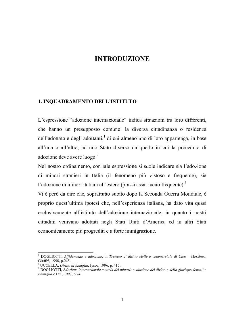 Anteprima della tesi: L'adozione internazionale, Pagina 1