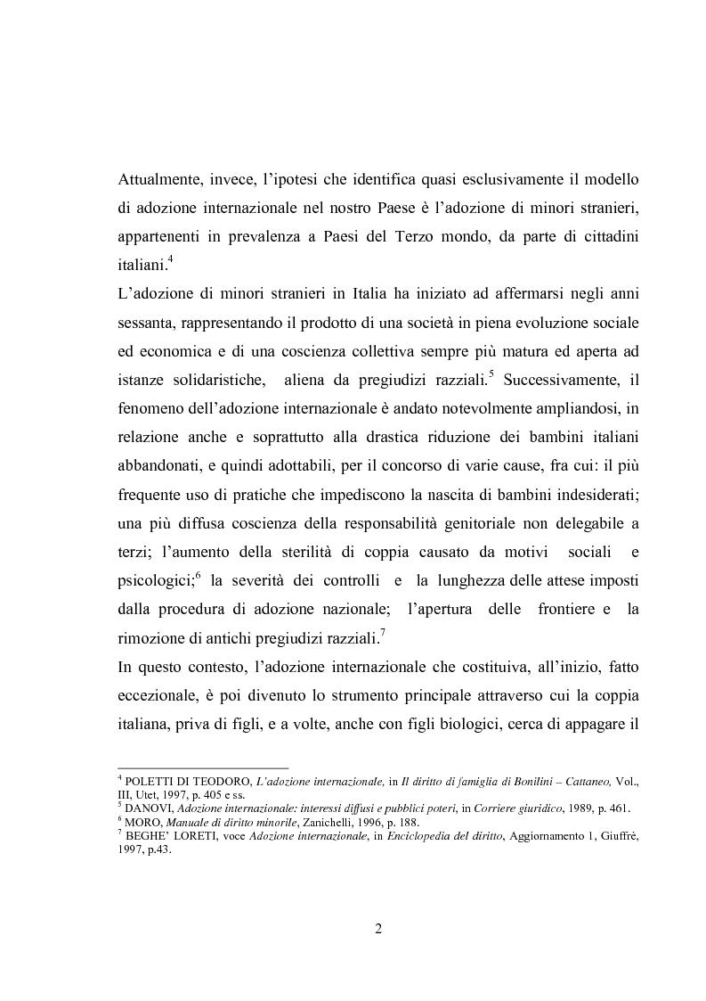 Anteprima della tesi: L'adozione internazionale, Pagina 2