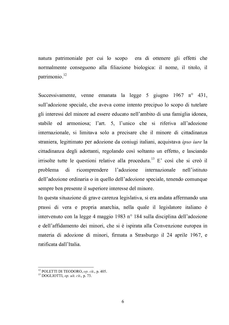 Anteprima della tesi: L'adozione internazionale, Pagina 6