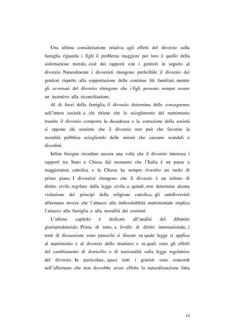 Anteprima della tesi: Il divorzio in Italia. I giuristi, la società e il dibattito politico nel XIX secolo, Pagina 11