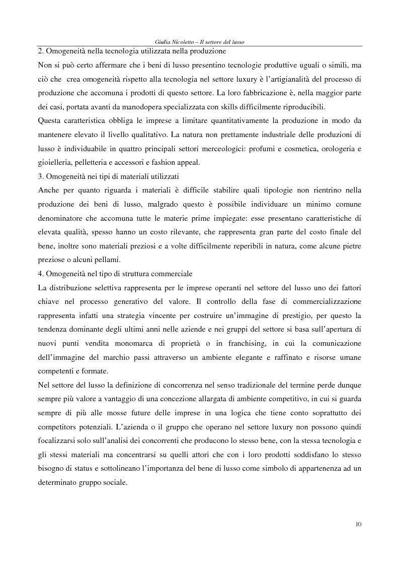 Anteprima della tesi: Crescere e creare valore nel settore del lusso: il caso Rossi Moda, Pagina 10