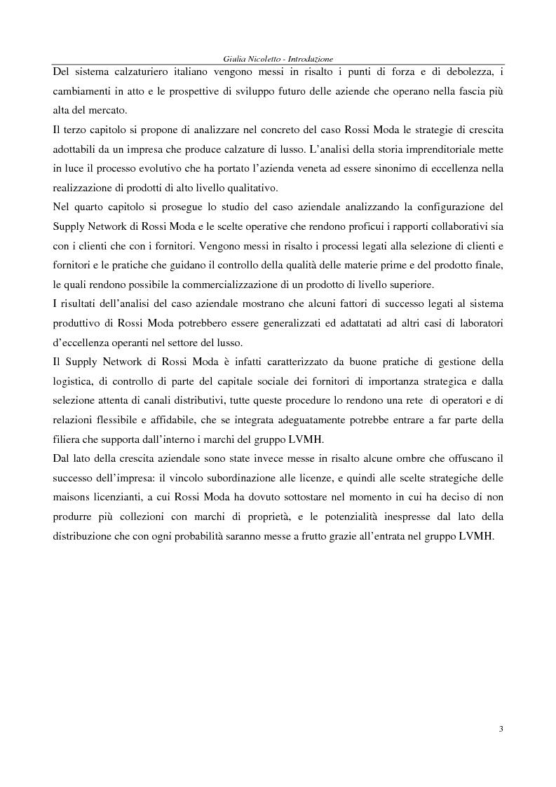 Anteprima della tesi: Crescere e creare valore nel settore del lusso: il caso Rossi Moda, Pagina 3