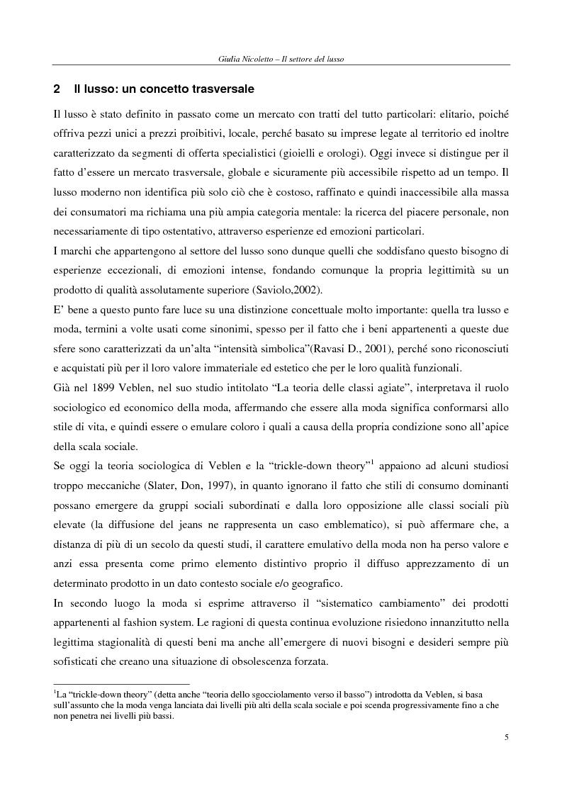 Anteprima della tesi: Crescere e creare valore nel settore del lusso: il caso Rossi Moda, Pagina 5