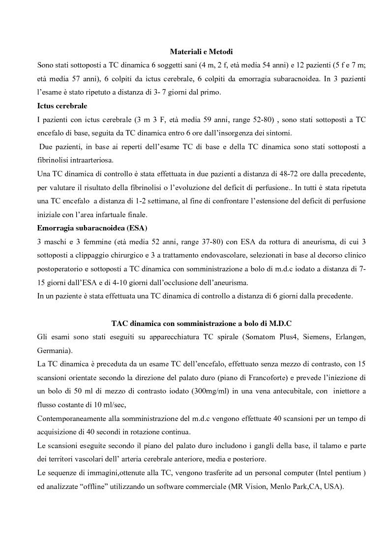 Anteprima della tesi: Studio della perfusione celebrale con TAC Dinamica: Aspetti tecnici ed applicazioni cliniche, Pagina 2