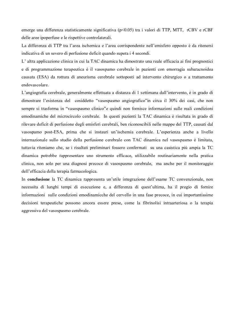 Anteprima della tesi: Studio della perfusione celebrale con TAC Dinamica: Aspetti tecnici ed applicazioni cliniche, Pagina 6